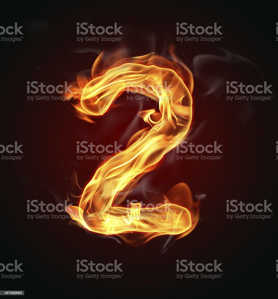 Fire number royalty-free stock photo
