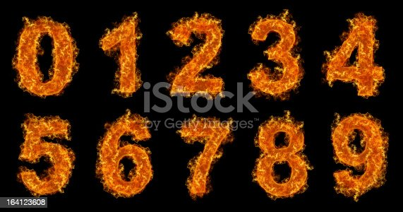istock Fire numbers set 164123608