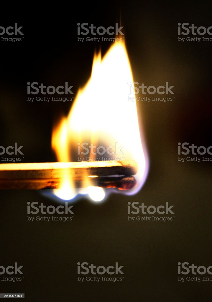 fire of sulfur royalty-free stock photo