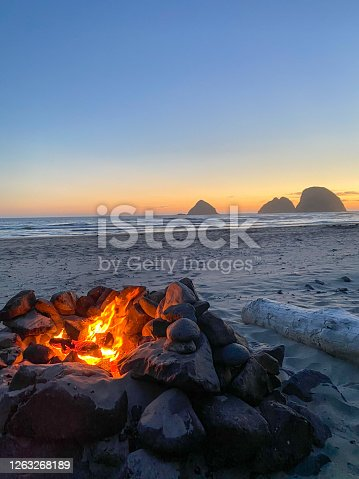 istock fire oregon sunset beach 1263268189