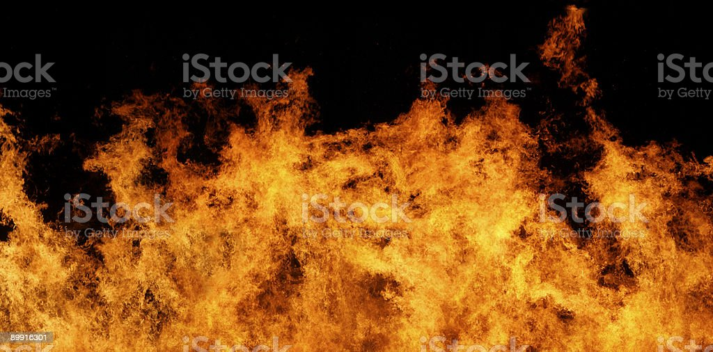 Fire panorama XXL file royalty-free stock photo