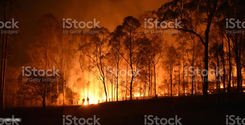 Fire Gregory fire queensland Australia Stock Photo