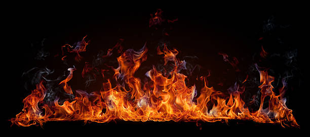 Fire Fire isolated on black flame stock pictures, royalty-free photos & images