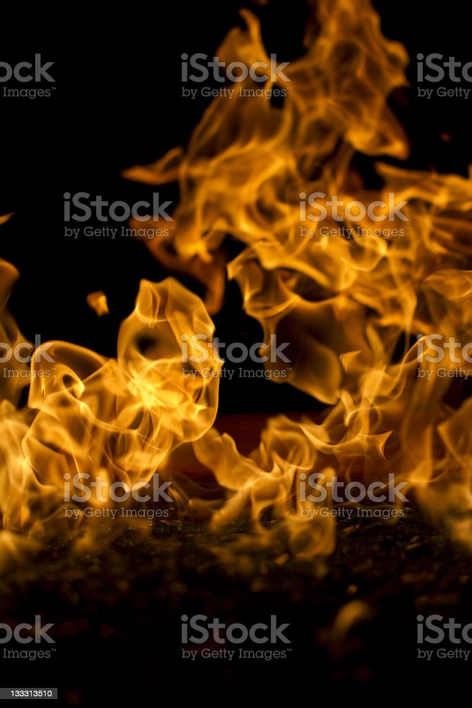Fire Pit Macro Vertical royalty-free stock photo