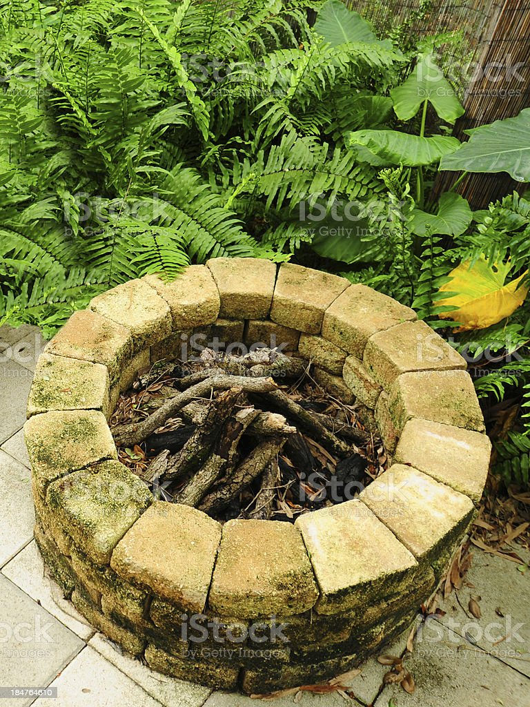 fire pit royalty-free stock photo