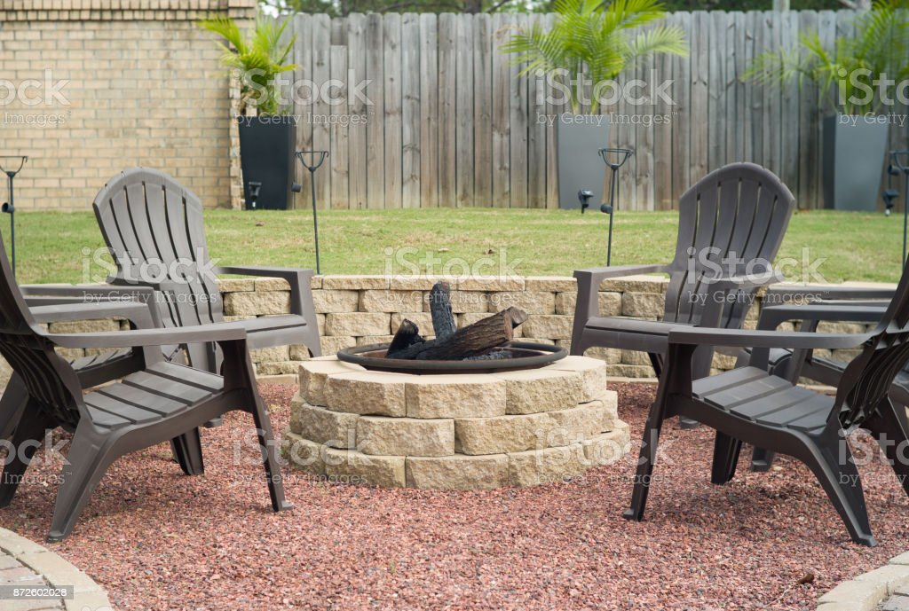 Fire Pit stock photo