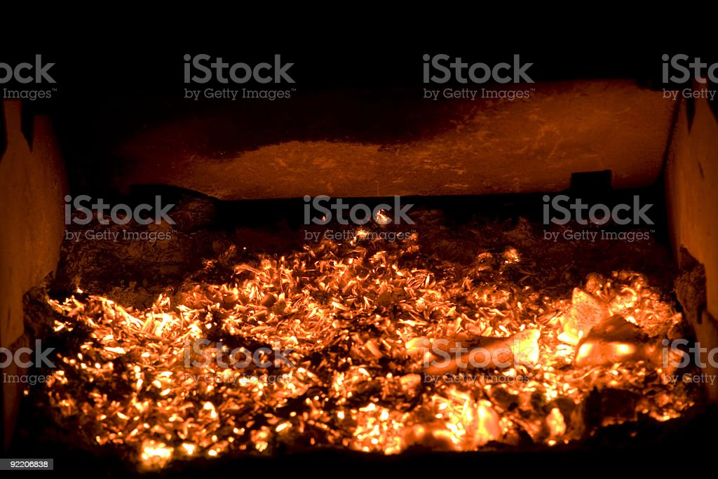 Fire place royalty-free stock photo