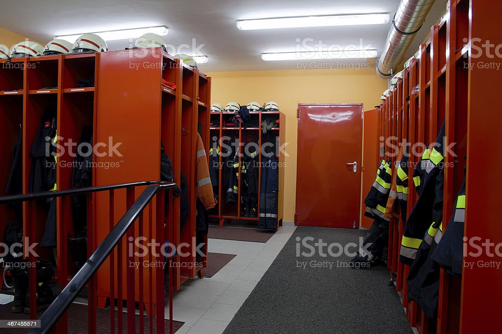 Fire Rescue Change Room stock photo
