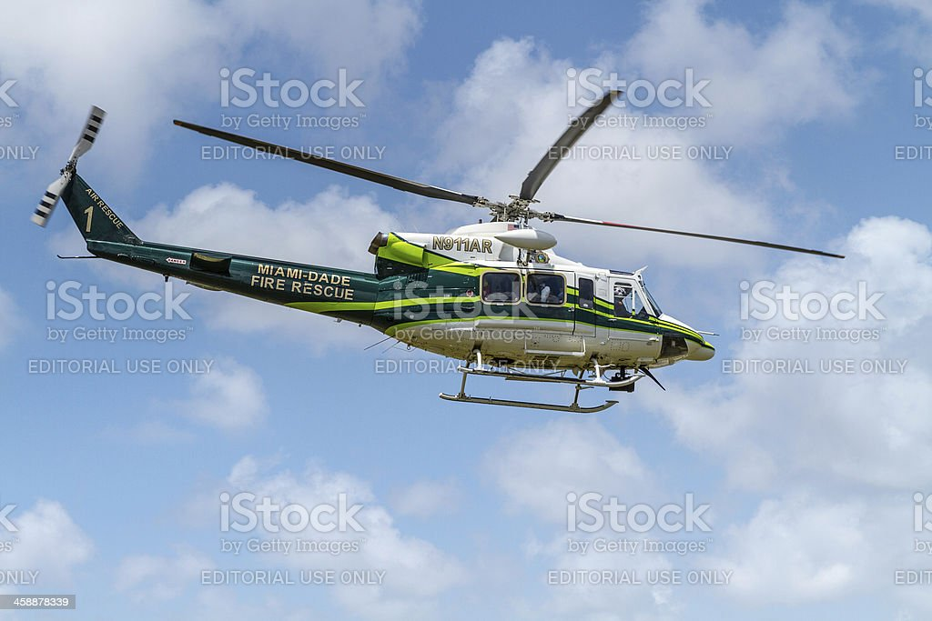 Fire Rescue Helicopter stock photo