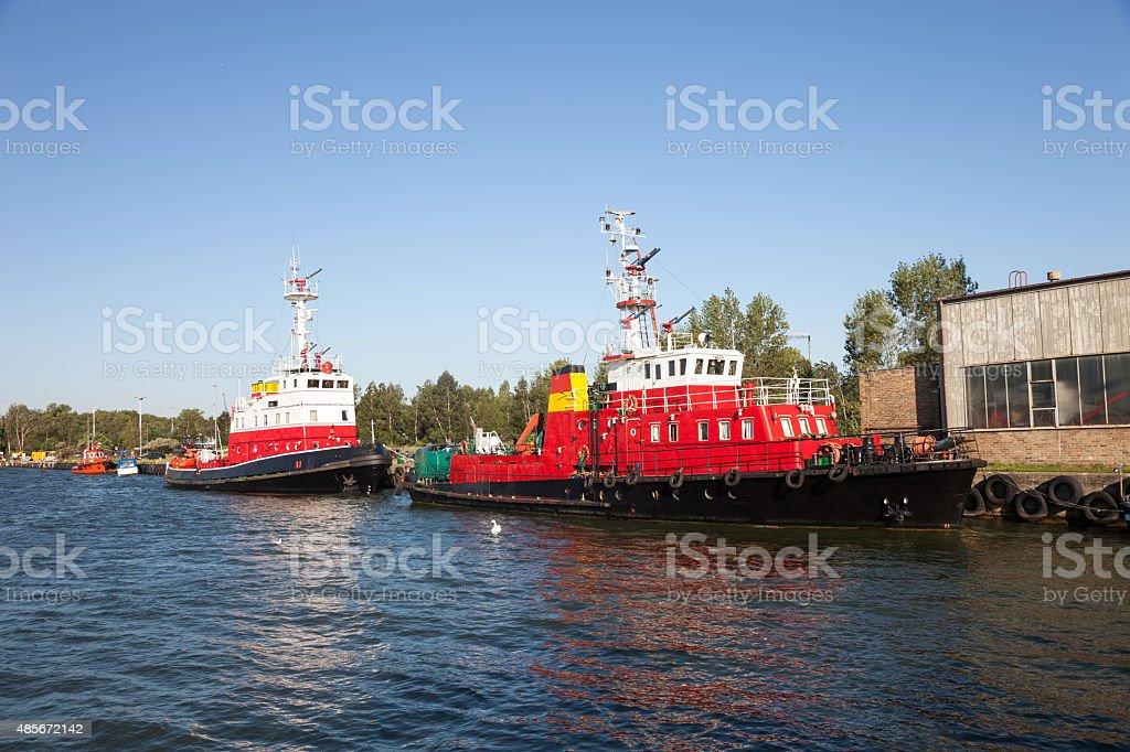 Fire rescue ship stock photo