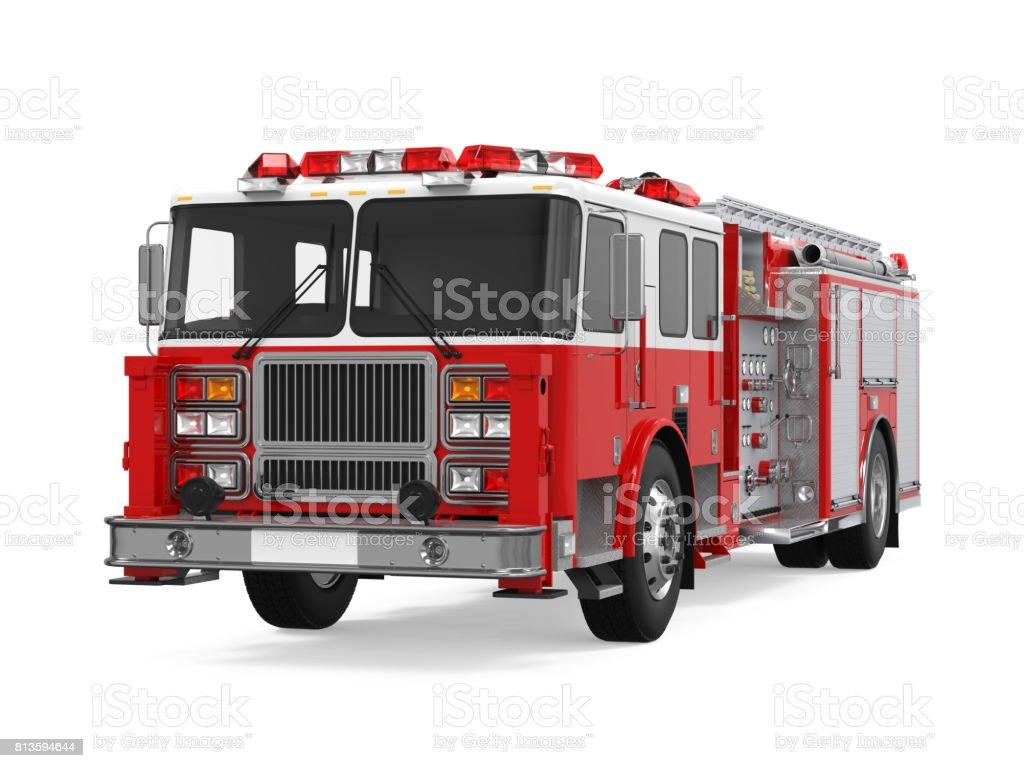 Rescue brandbil isolerade bildbanksfoto