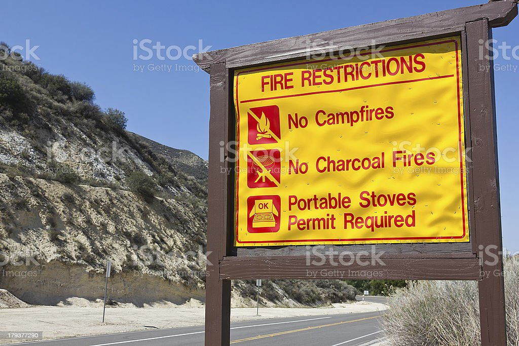 Fire Restrictions Sign royalty-free stock photo