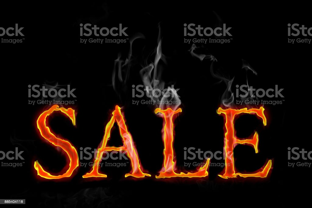 Fire Sales text in english stock photo