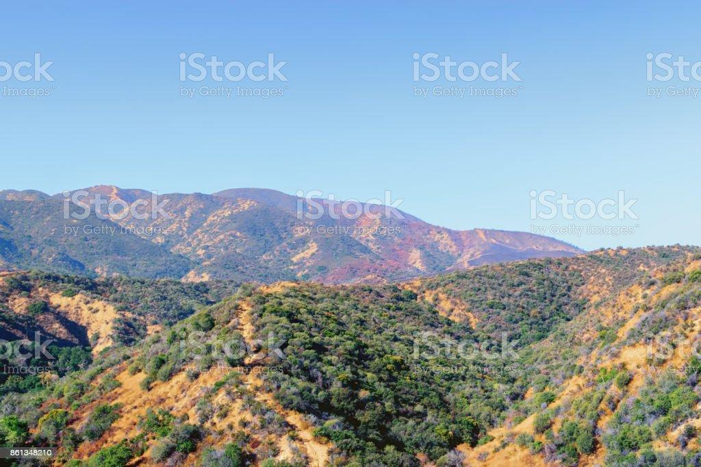 Fire season in California stock photo