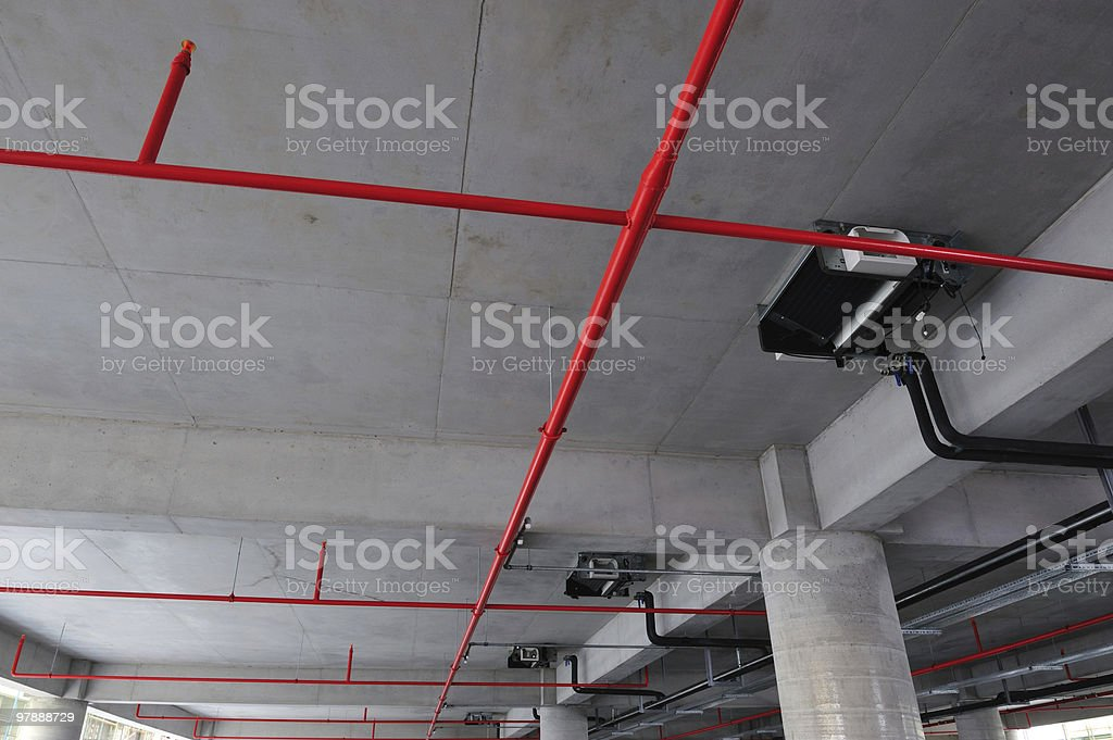 fire security and Sprinkler stock photo