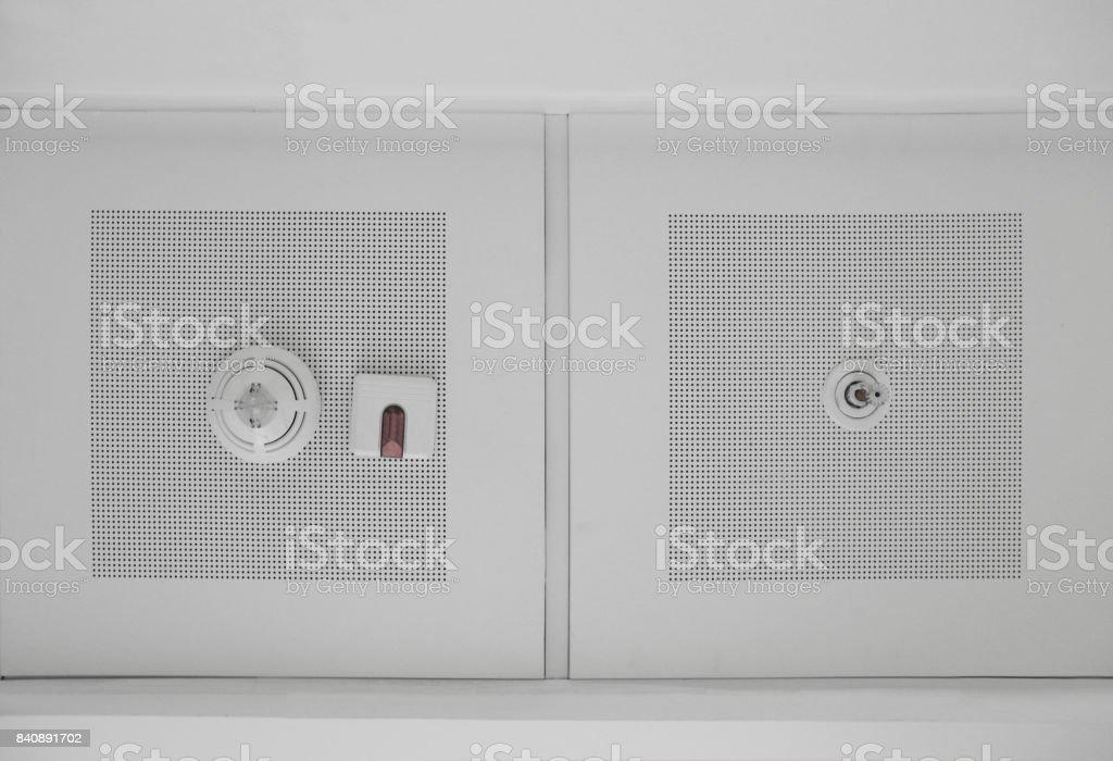 Fire sensor stock photo