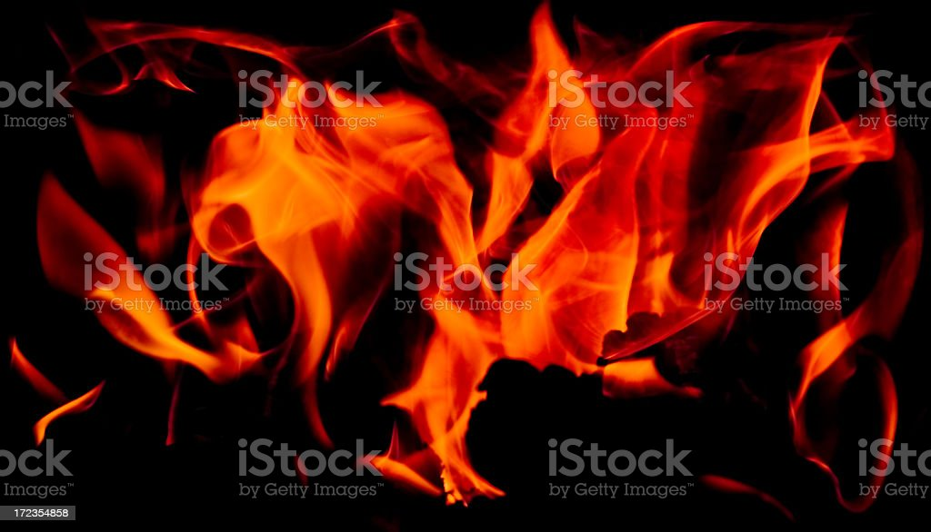 Fire Shapes royalty-free stock photo