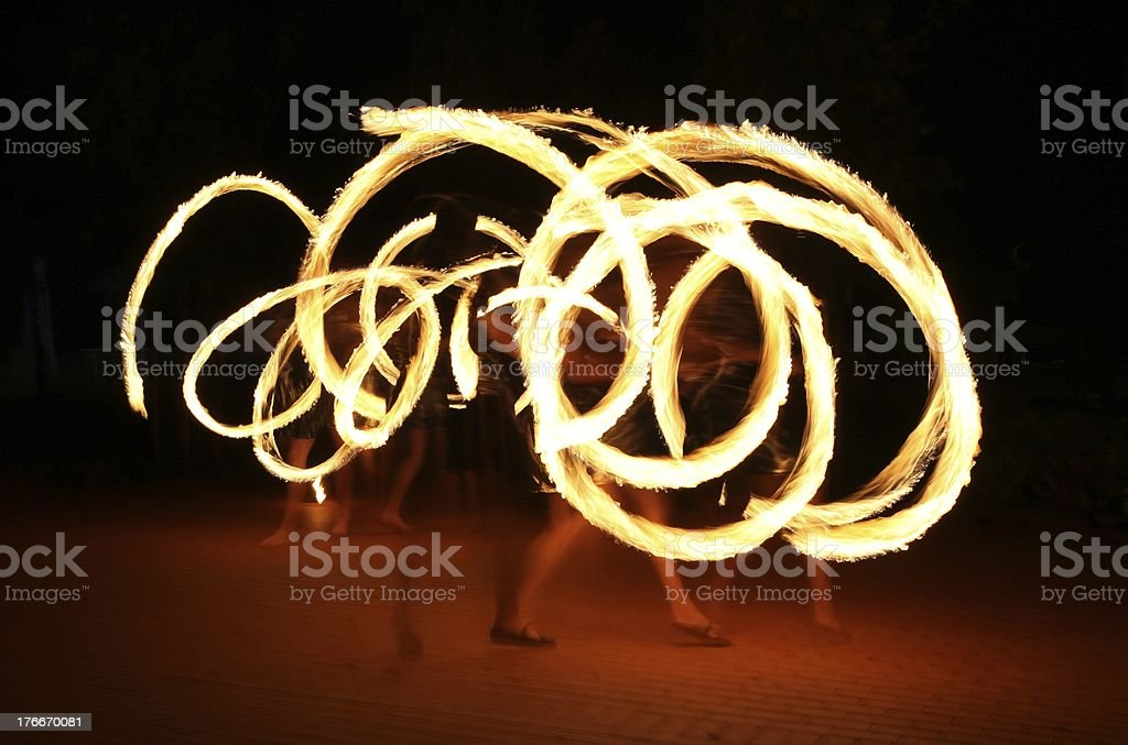 Fire show royalty-free stock photo