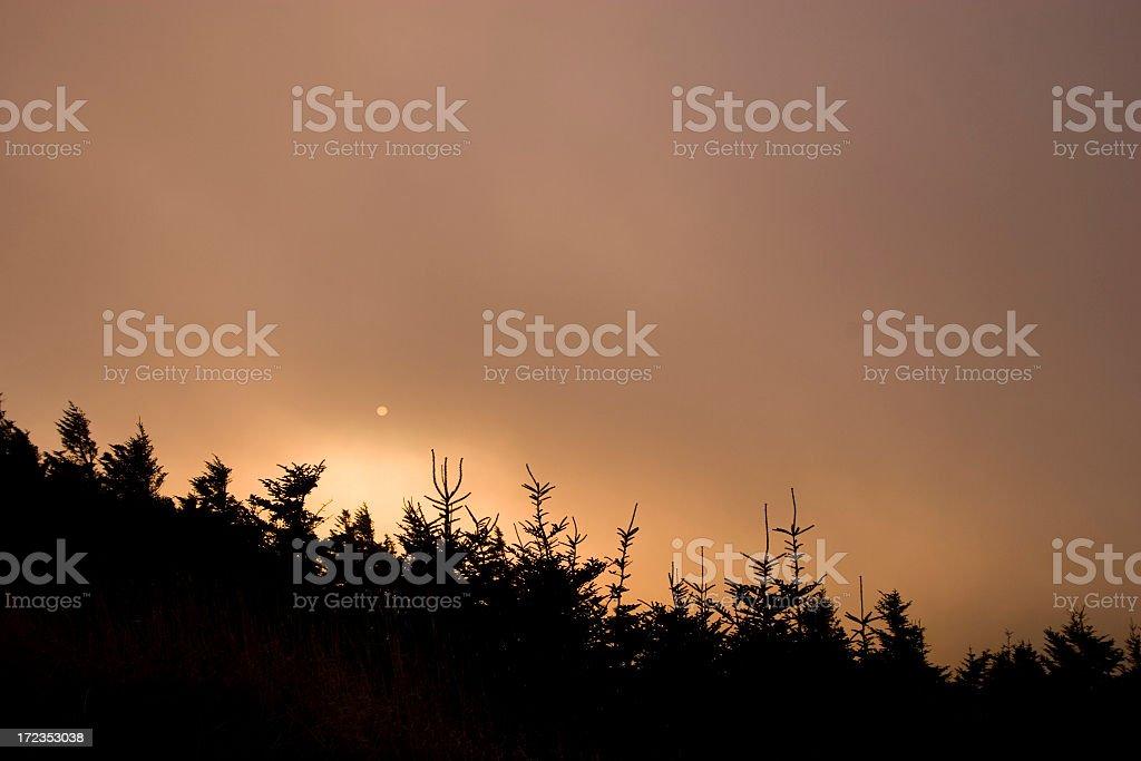 Cielo de fuego foto de stock libre de derechos