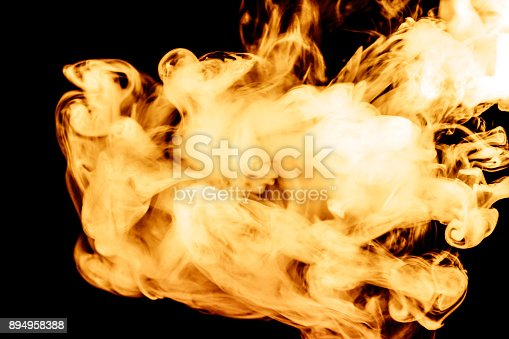 874895030istockphoto fire smoke isolated on a black background. fractal. spiral. 894958388