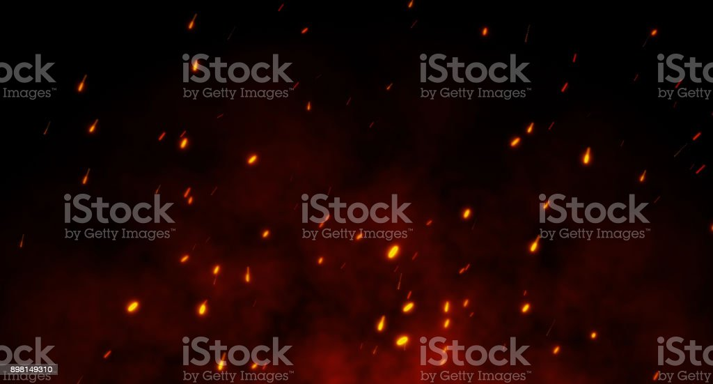 A fire spark Background stock photo