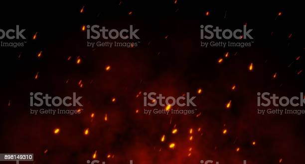 Photo of A fire spark Background