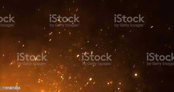 Photo of Fire Sparks Background