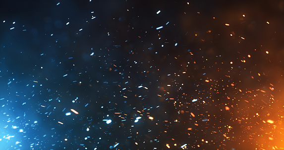 Digitally generated fire sparks, perfectly usable for a wide range of topics related to adventure or conflict.