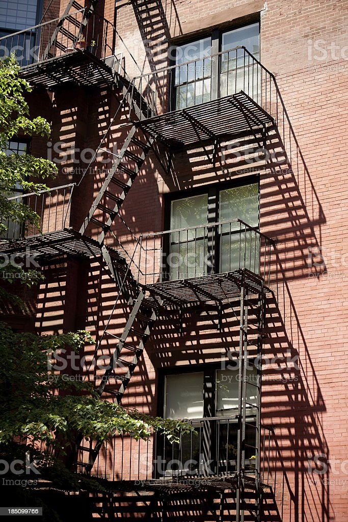 Fire Stairs in building stock photo