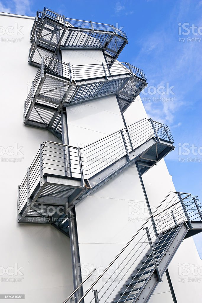 Fire Stairs Royalty Free Stock Photo