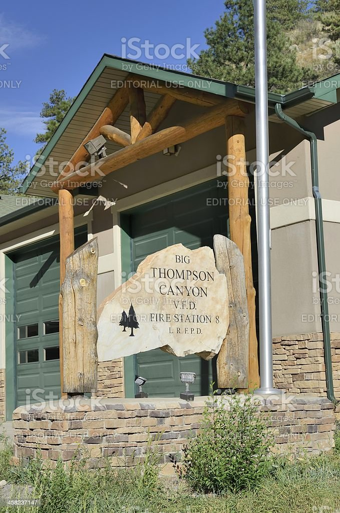 Fire Station, Big Thompson Canyon stock photo