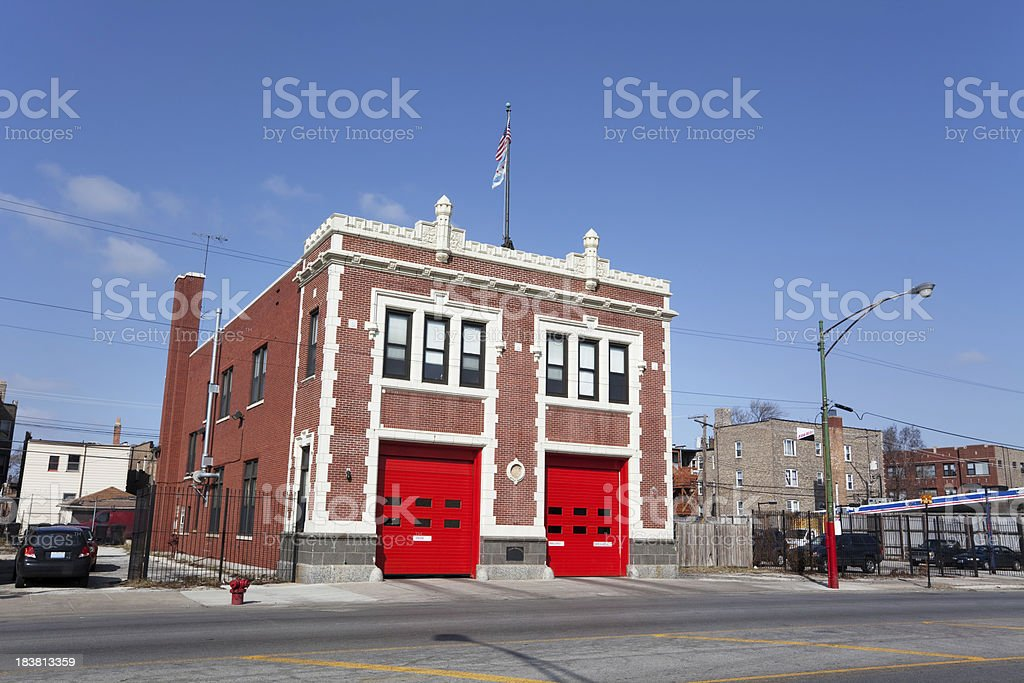 Fire Station in Auburn Gresham, Chicago royalty-free stock photo