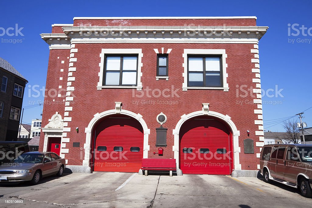 Fire Station in Brighton Park, Chicago royalty-free stock photo