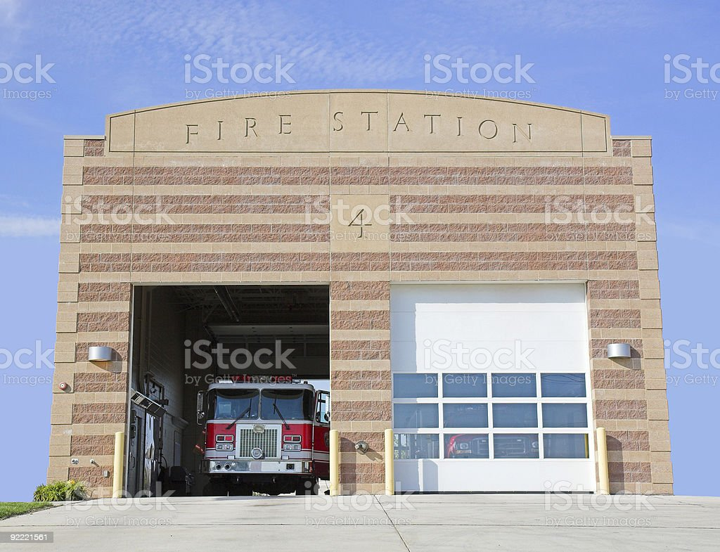 Fire Station stock photo