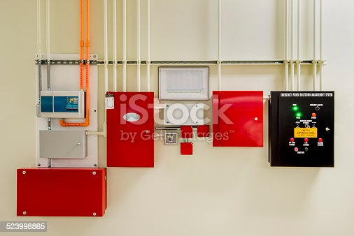 Commercial gaseous fire suppression system with aspirating smoke detectors.