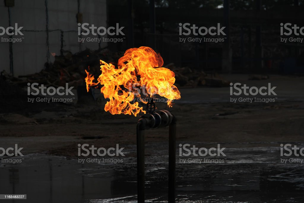 Fire the oil pipeline leak and explose.Crude oil transport with pipe...