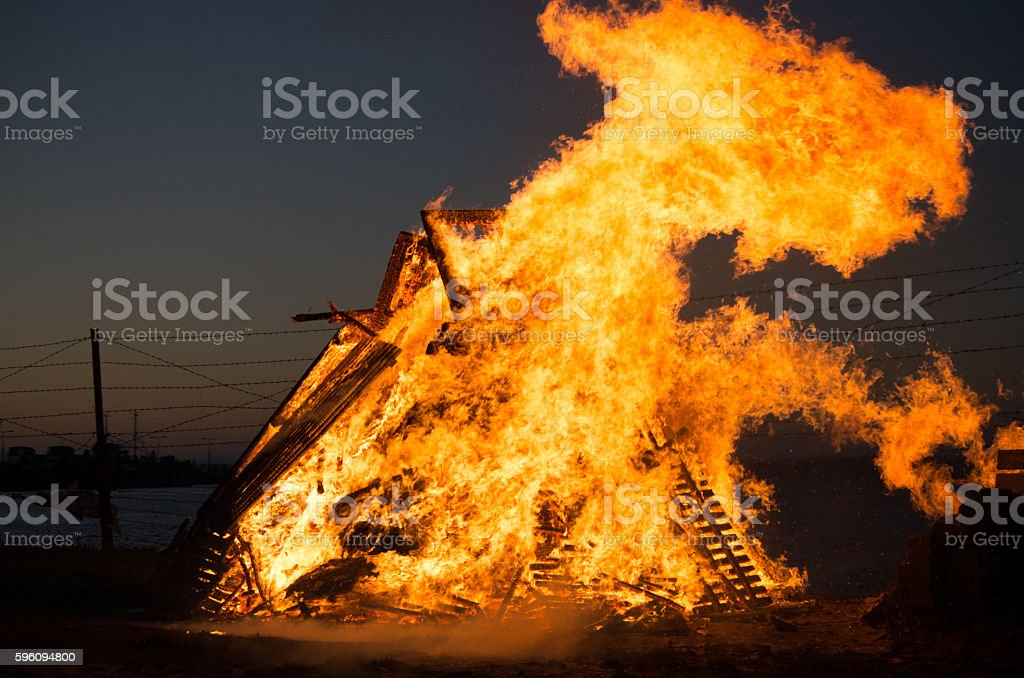 Fire time celebreting royalty-free stock photo