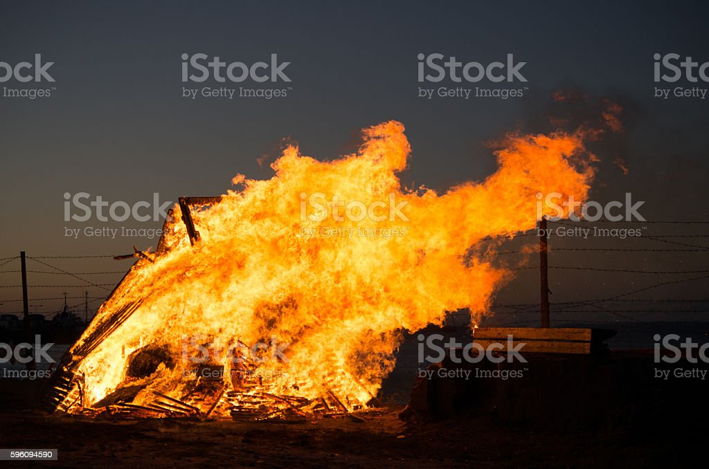 Fire time royalty-free stock photo