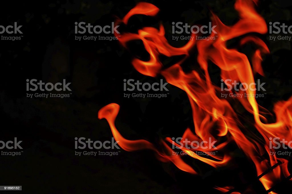 fire tongue royalty-free stock photo