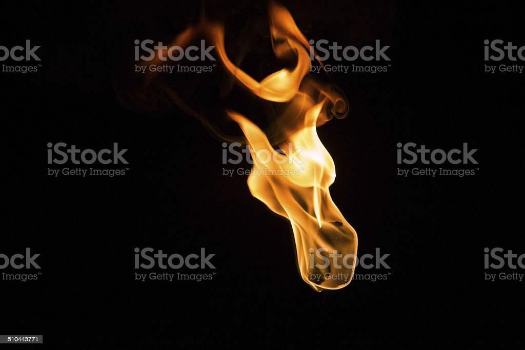 Fire torch stock photo