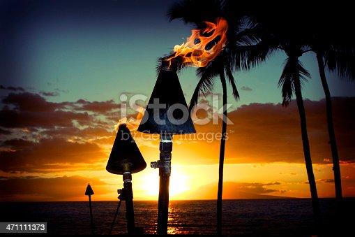 A beautiful island sunset.