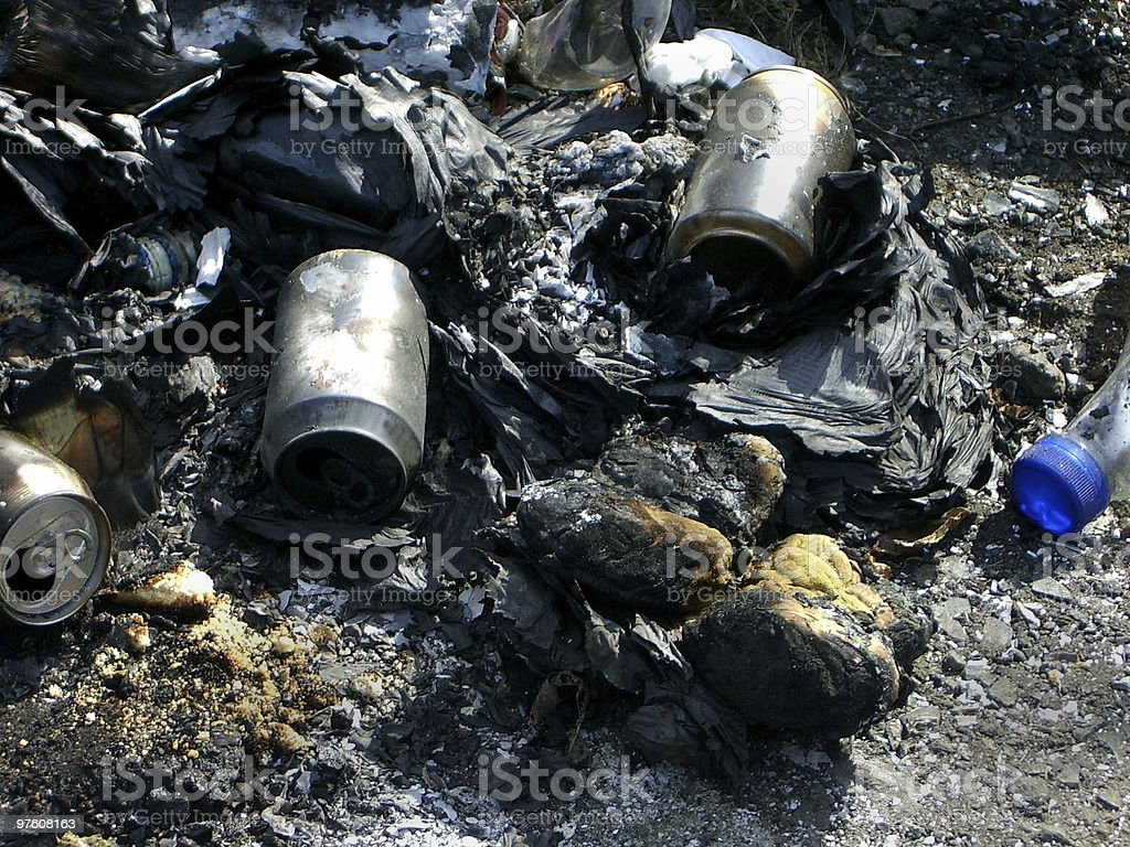 Fire Trash royalty-free stock photo