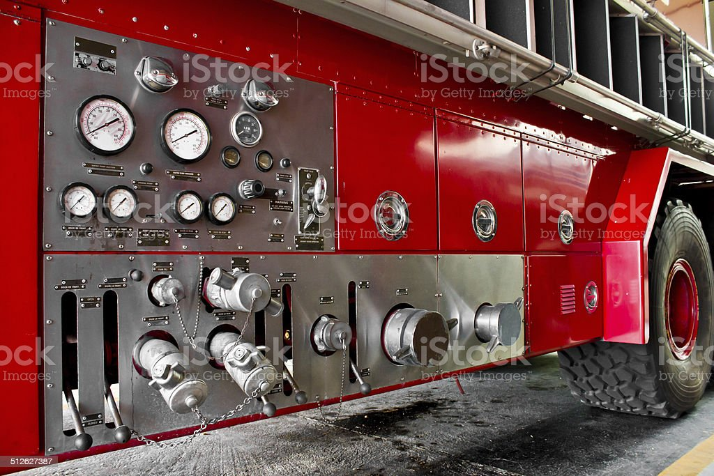 Fire truck car firefighter rescue stock photo