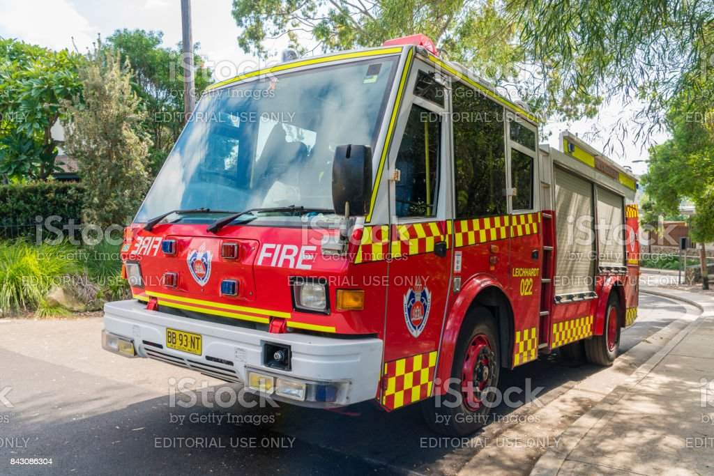 Fire truck from the Fire and Rescue NSW, which is responsible for...