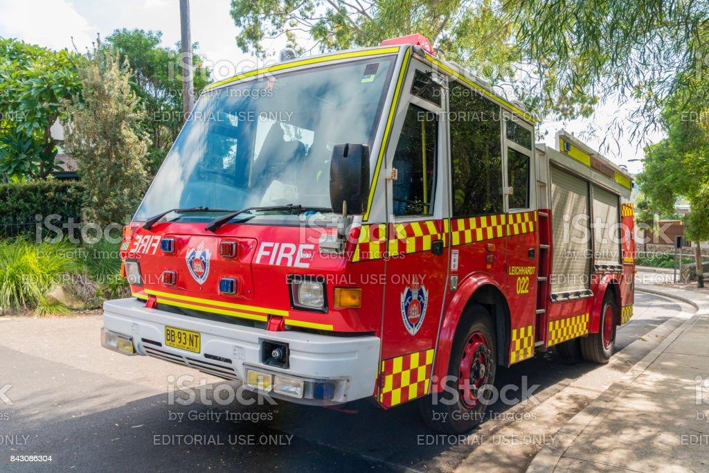 Camión de bomberos por el incendio y rescate Nueva Gales del sur - foto de stock