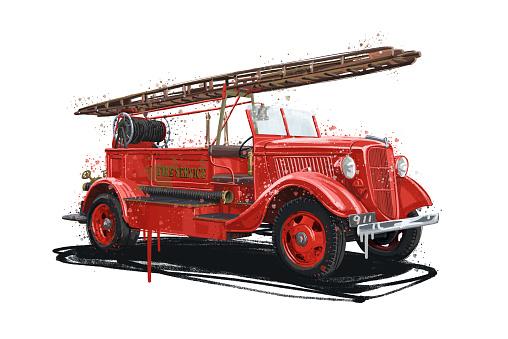 Fire Truck illustration stock illustration