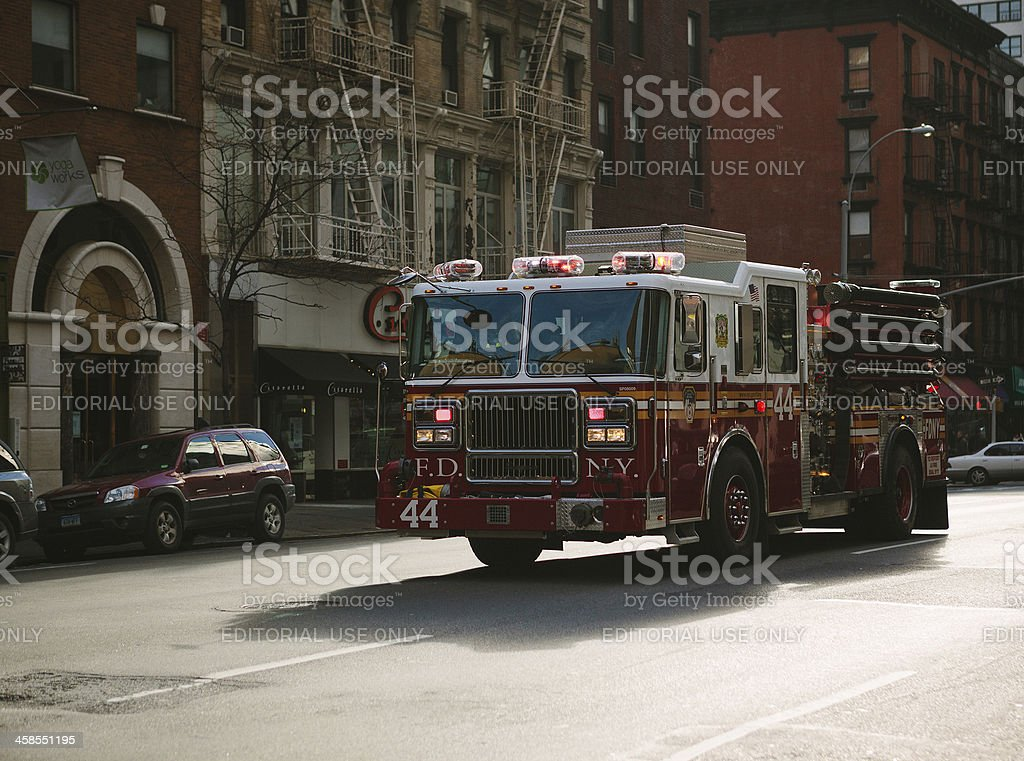 fire truck in new york city royalty-free stock photo