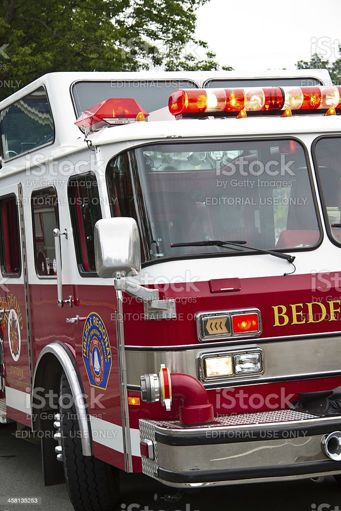 Fire Truck on Scene royalty-free stock photo