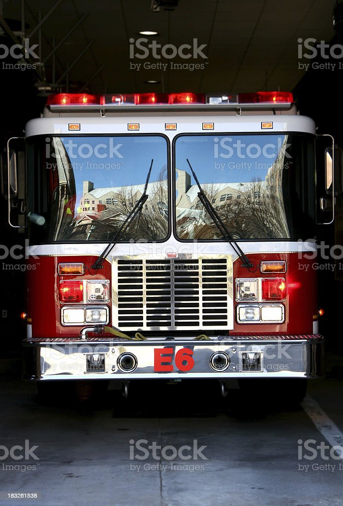 Fire Truck Reflection 2 stock photo