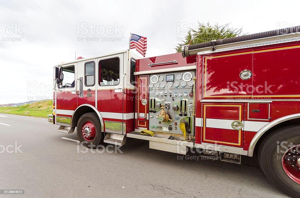 Camión de bomberos, San Francisco - foto de stock